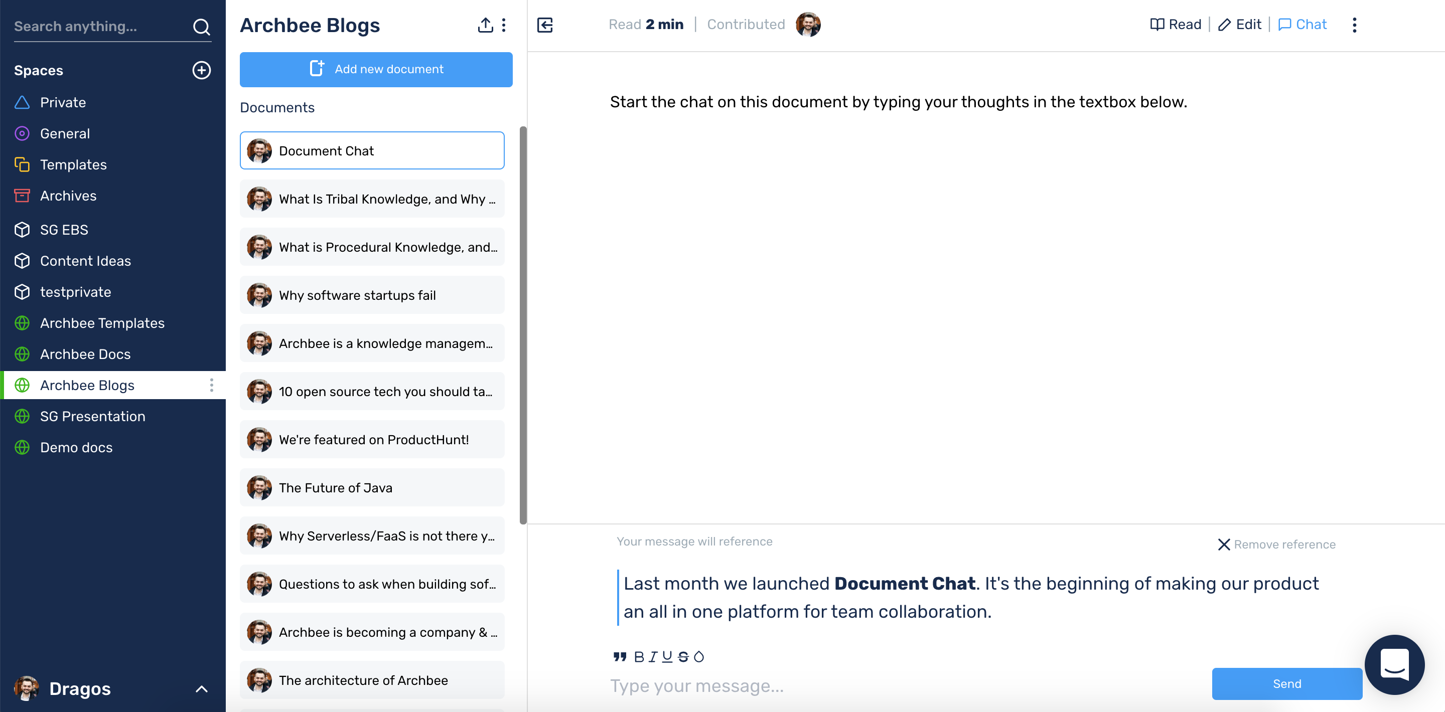 Document Chat is here